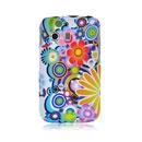 Coque Samsung S5360 Galaxy Y Fleurs Silicone Housse Gel - Verte