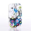 Coque Samsung S5360 Galaxy Y Fleurs Silicone Housse - Noire