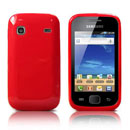 Coque Samsung S5660 Galaxy Gio Silicone Gel Housse - Rouge