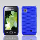 Coque Samsung S5750 Wave 575 Filet Plastique Etui Rigide - Bleu