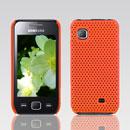 Coque Samsung S5750 Wave 575 Filet Plastique Etui Rigide - Orange