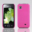 Coque Samsung S5750 Wave 575 Filet Plastique Etui Rigide - Rose Chaud