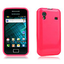 Coque Samsung S5830 Galaxy Ace Silicone Gel Housse - Rose Chaud