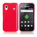 Coque Samsung S5830 Galaxy Ace Silicone Gel Housse - Rouge