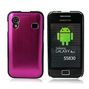 Coque Samsung S5839i Galaxy Ace Aluminium Metal Plated Etui - Rose Chaud