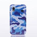 Coque Samsung S5839i Galaxy Ace Camouflage Etui Rigide - Bleu
