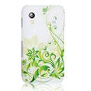Coque Samsung S5839i Galaxy Ace Fleurs Bling Etui Rigide - Verte