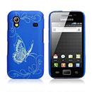 Coque Samsung S5839i Galaxy Ace Papillon Plastique Etui Rigide - Bleu
