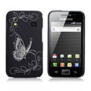 Coque Samsung S5839i Galaxy Ace Papillon Plastique Etui Rigide - Noire