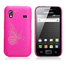 Coque Samsung S5839i Galaxy Ace Papillon Plastique Etui Rigide - Rose Chaud