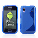Coque Samsung S5839i Galaxy Ace S-Line Silicone Gel Housse - Bleu