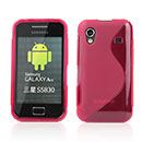 Coque Samsung S5839i Galaxy Ace S-Line Silicone Gel Housse - Rouge