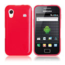 Coque Samsung S5839i Galaxy Ace Silicone Gel Housse - Rouge