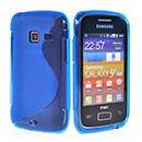Coque Samsung S6102 Galaxy Y Duos S-Line Silicone Gel Housse - Bleu