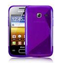 Coque Samsung S6102 Galaxy Y Duos S-Line Silicone Gel Housse - Pourpre