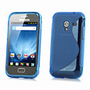 Coque Samsung S7500 Galaxy Ace Plus S-Line Silicone Gel Housse - Bleu