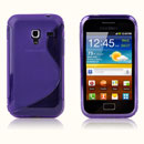 Coque Samsung S7500 Galaxy Ace Plus S-Line Silicone Gel Housse - Pourpre