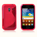 Coque Samsung S7500 Galaxy Ace Plus S-Line Silicone Gel Housse - Rouge