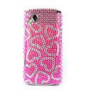 Coque Samsung S8530 Wave 2 Amour Diamant Bling Etui Rigide - Rose