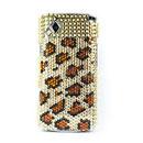 Coque Samsung S8530 Wave 2 Diamant Bling Etui Rigide - Brown