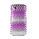 Coque Samsung S8530 Wave 2 Diamant Bling Etui Rigide - Pourpre