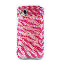 Coque Samsung S8530 Wave 2 Diamant Bling Etui Rigide - Rouge
