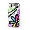 Coque Samsung S8530 Wave 2 Fleurs Diamant Bling Etui Rigide - Mixtes