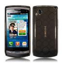 Coque Samsung S8530 Wave II Cercle Gel TPU Housse - Noire