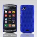 Coque Samsung S8530 Wave II Filet Plastique Etui Rigide - Bleu