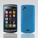 Coque Samsung S8530 Wave II Filet Plastique Etui Rigide - Bleue Ciel