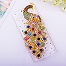 Coque Samsung S8530 Wave II Luxe Paon Diamant Bling Etui Rigide - Mixtes
