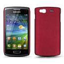 Coque Samsung S8600 Wave 3 Plastique Etui Rigide - Rouge
