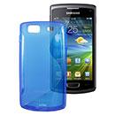 Coque Samsung S8600 Wave 3 S-Line Silicone Gel Housse - Bleu