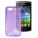 Coque Samsung S8600 Wave 3 S-Line Silicone Gel Housse - Pourpre