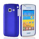 Coque Samsung Wave Y S5380 Plastique Etui Rigide - Bleu