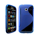 Coque Samsung Wave Y S5380 S-Line Silicone Gel Housse - Bleu