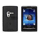 Coque Sony Ericsson Mini X10 Filet Plastique Etui Rigide - Noire