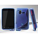 Coque Sony Ericsson Xperia Active ST17i S-Line Silicone Gel Housse - Bleu