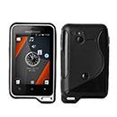 Coque Sony Ericsson Xperia Active ST17i S-Line Silicone Gel Housse - Noire