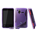 Coque Sony Ericsson Xperia Active ST17i S-Line Silicone Gel Housse - Pourpre