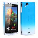 Coque Sony Ericsson Xperia Arc LT15i X12 Degrade Etui Rigide - Bleue Ciel