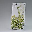 Coque Sony Ericsson Xperia Arc LT15i X12 Fleurs Diamant Bling Etui Rigide - Verte