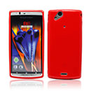 Coque Sony Ericsson Xperia Arc LT15i X12 Silicone Gel Housse - Rouge