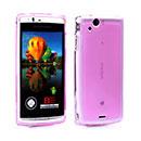 Coque Sony Ericsson Xperia Arc LT15i X12 Silicone Transparent Housse - Pourpre