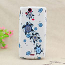 Coque Sony Ericsson Xperia Arc LT15i X12 Tortue Silicone Housse Gel - Bleu
