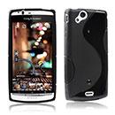 Coque Sony Ericsson Xperia Arc S LT18i S-Line Silicone Gel Housse - Noire
