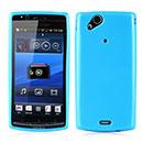 Coque Sony Ericsson Xperia Arc S LT18i Silicone Gel Housse - Bleu