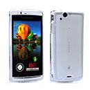 Coque Sony Ericsson Xperia Arc S LT18i Silicone Transparent Housse - Blanche