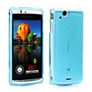 Coque Sony Ericsson Xperia Arc S LT18i Silicone Transparent Housse - Bleu
