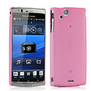 Coque Sony Ericsson Xperia Arc S LT18i Ultrathin Plastique Etui Rigide - Rose